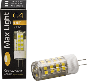 JD LED G4 6W Plastic 6000K